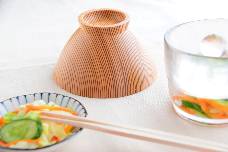 吉野杉のお茶碗